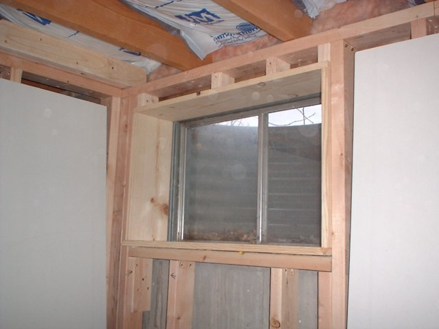 window frame framing for a window